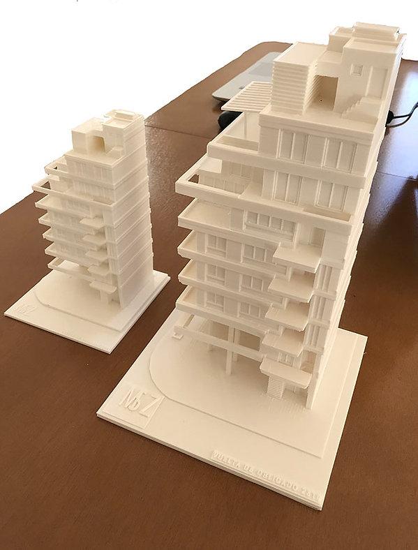 Maquetas de edificios. Impresión 3D.