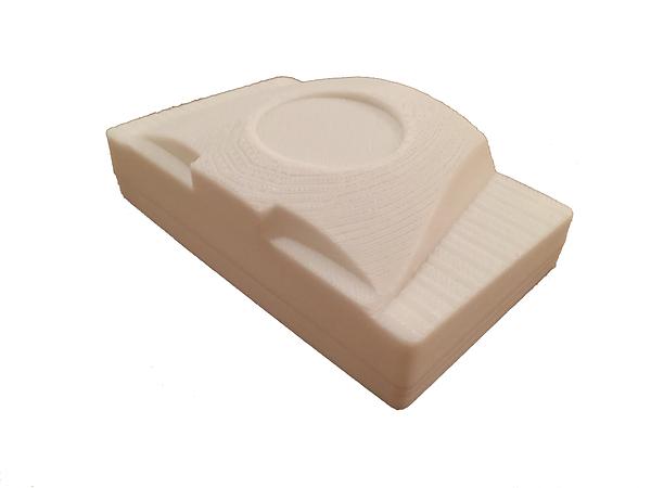 Prototipo de gabinete para placa electrónica. Impresión 3D.