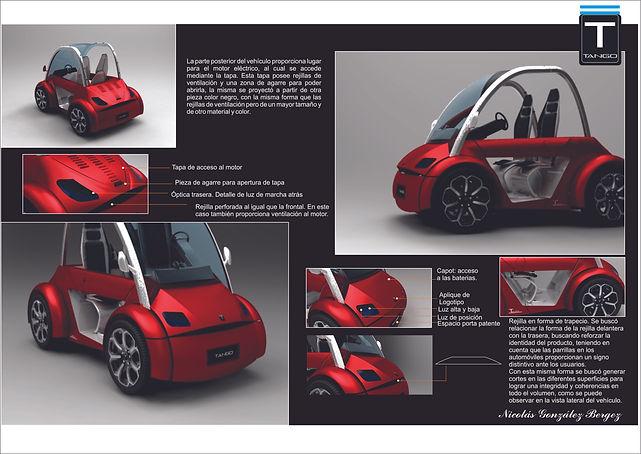 Descripción del auto eléctrico. Diseño