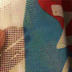 Large PVC mesh banner