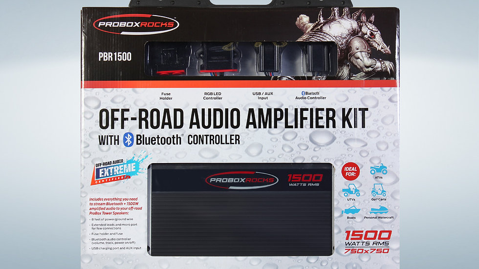 1500W Off-Road Audio Amplifier Kit with  Bluetooth Controller