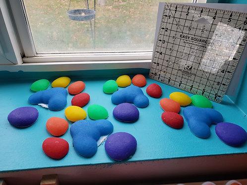 Rainbow K9 Feetpads 2 Sets by DVC
