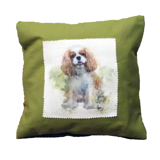 Blenheim Cavalier canvas 12x12 pillow