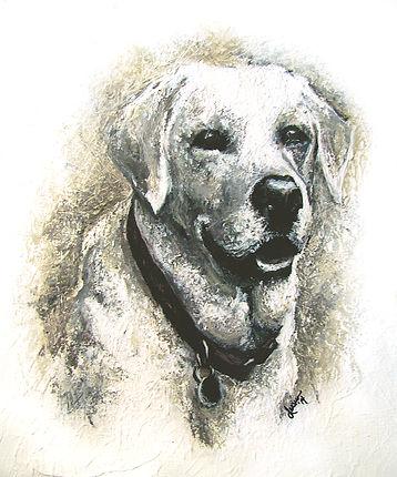 Labrador Retriever, dog, art, acrylics
