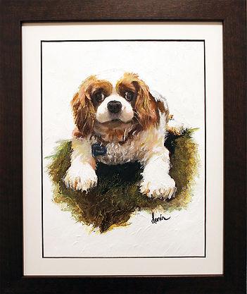 CKCS, Cavalier, dog, art, acrylics