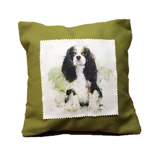 Tri Cavalier canvas 12x12 pillow
