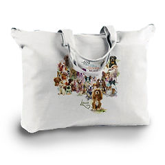 Canvas Zippered Book Tote with custom image