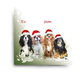 Cavalier King Charles Spaniels Holiday Gift Tag