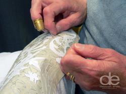 close up lace maker