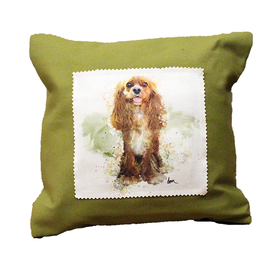 Ruby Cavalier canvas 12x12 pillow