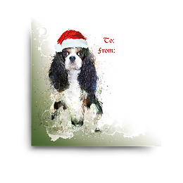 Tri Cavalier Holiday Gift Tag