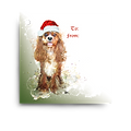 Ruby Cavalier Holiday Gift Tag