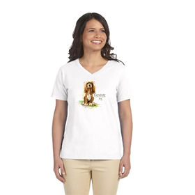 Ladies FittedV-Neck T-shirt with custom image