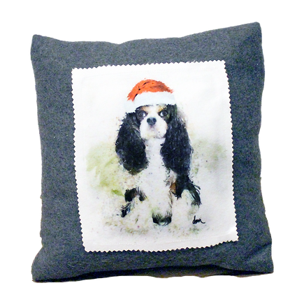 Tri Cavalier fleece 12x12 pillow