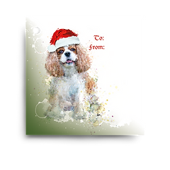 Blenheim Cavalier Holiday Gift Tag