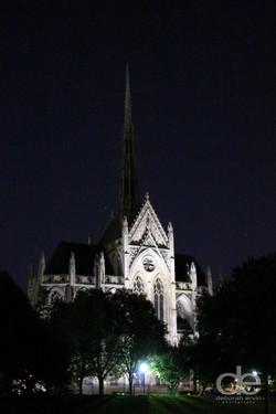 Heinz Chapel at night