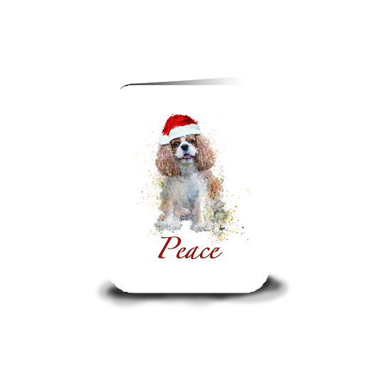 "Blenheim Cavalier ""Peace"" holiday greeting card"