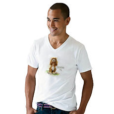 Unisex V-Neck T-Shirt with custom image