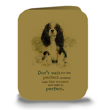 """Don't Wait"" Tri Cavalier greeting card"