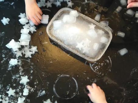 Freezing ice!