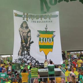 Georgi Hristov 100th Game