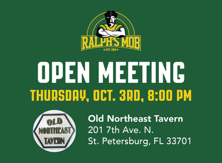 October Ralph's Mob Open Meeting & Town Hall