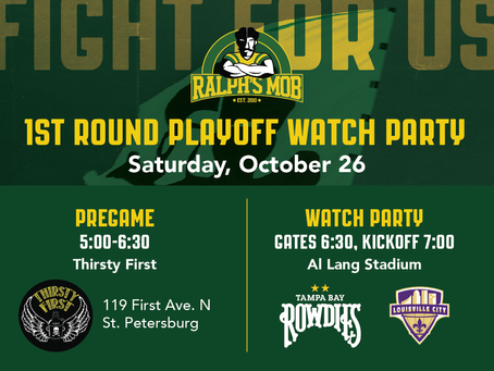 1st round playoff pregame and watch party