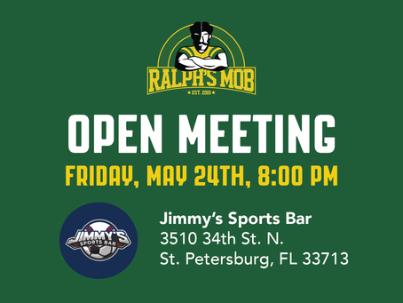 Upcoming Ralph's Mob Open Meeting & Town Hall
