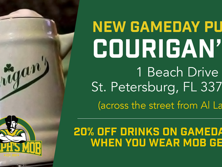 Announcing Courigan's Irish Pub as Our New Gameday Pub!