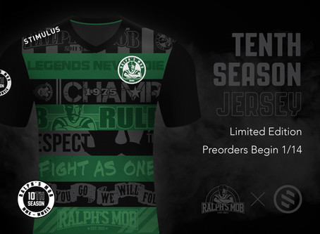 Introducing The Ralph's Mob 10th Season Jersey
