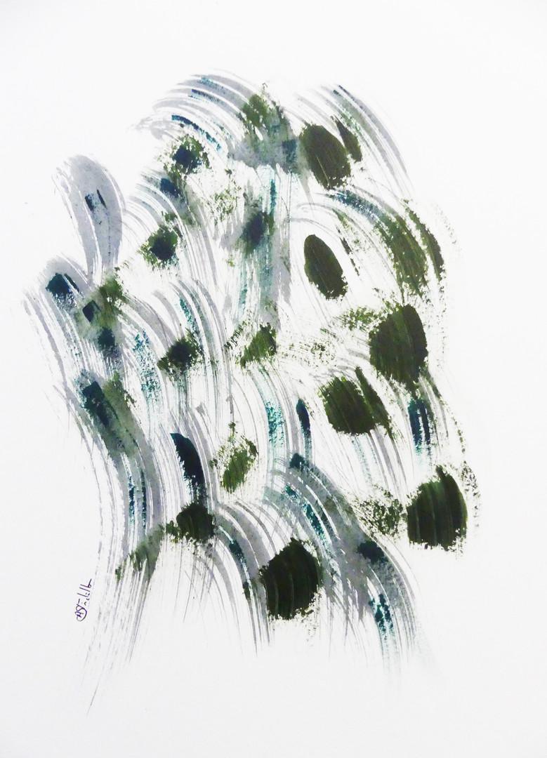 Abstract AJI - 65x50cm, 2020