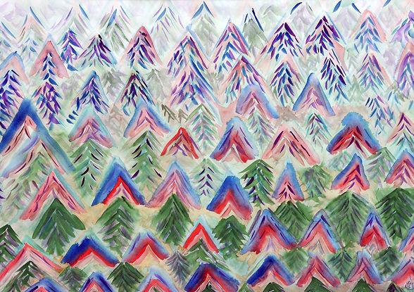 aquarelle couleurs forêt Forêt Noire