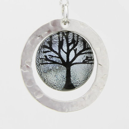 Sterling Silver Washer Setting with Round Tree #6