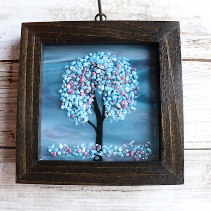 Fused Glass Sun catcher, Tree, Window Hanging