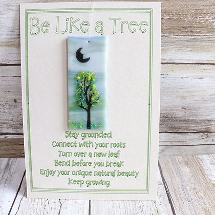 Greeting Card with removable Suncatcher - Be like a tree - Wholesale