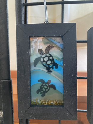 Fused Glass Framed Window Hanging - Wholesale