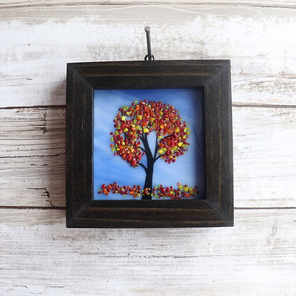Fused Glass Framed Window Hanging, Trees - Wholesale