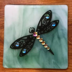 Fused Art Glass Plaques