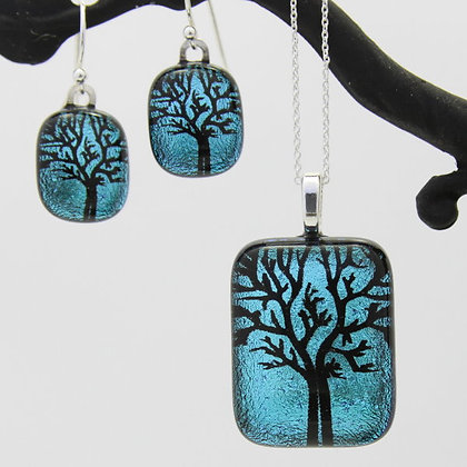 Autumn tree of life pendant and earrings