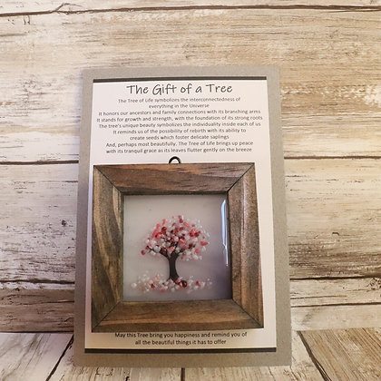 Greeting Card with Framed Tree Suncatcher - The Gift of a Tree - wholesale