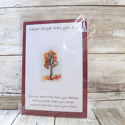 Greeting Card with Suncatcher - Never forget who you are - wholesale