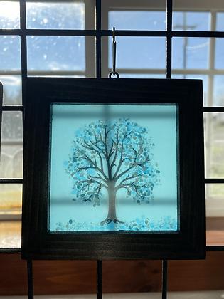 Fused Glass Tree Window Hanging