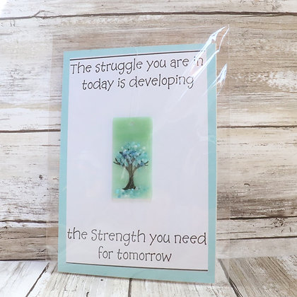 Greeting Card with Suncatcher - The struggle you are in today - wholesale