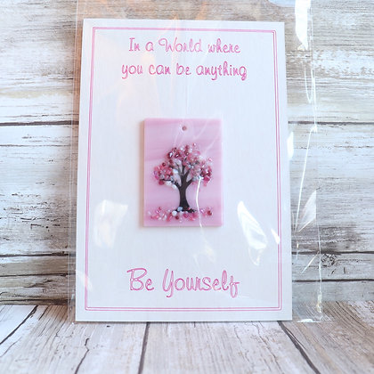 Greeting Card with Suncatcher - Be yourself - wholesale