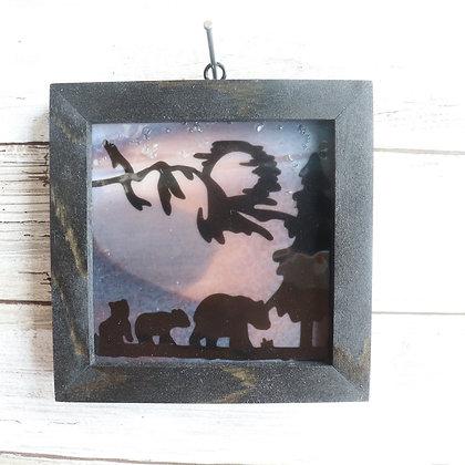 Fused Glass Sun Catcher, Bears Window hanging