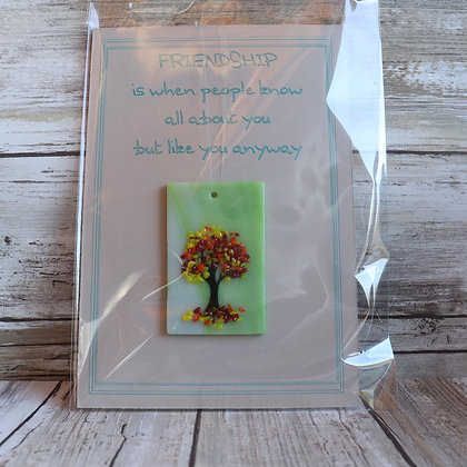 Greeting Card with Suncatcher - Friends like you anyway - wholesale