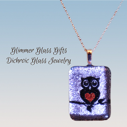 Owl with a Heart belly pendant and earrings wholesale