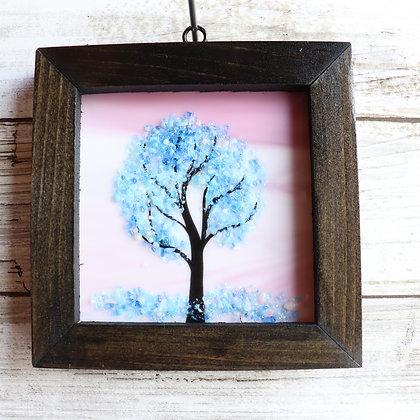 Fused Glass Sun catcher, Tree, Window Hanging