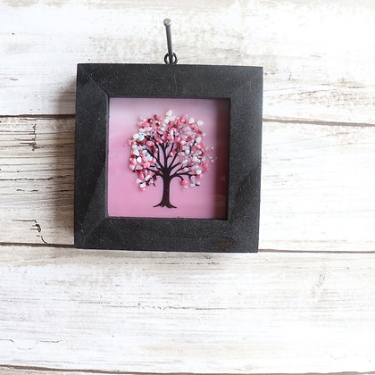 Fused Glass Framed Window Hanging, Tree - Wholesale