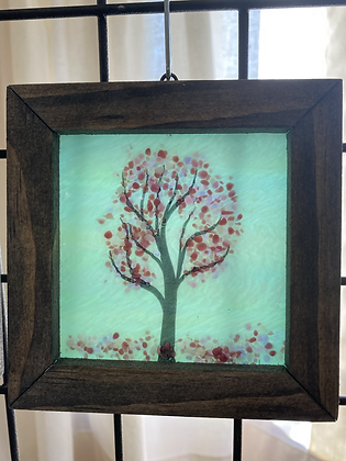 Fused Glass Tree Window Hanging